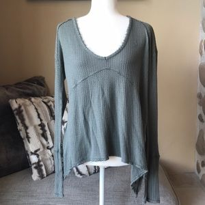 Free People Olive Green Thermal. Size S.
